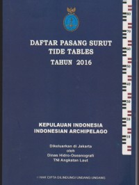 Image of Daftar pasang surut tide tables tahn 2016
