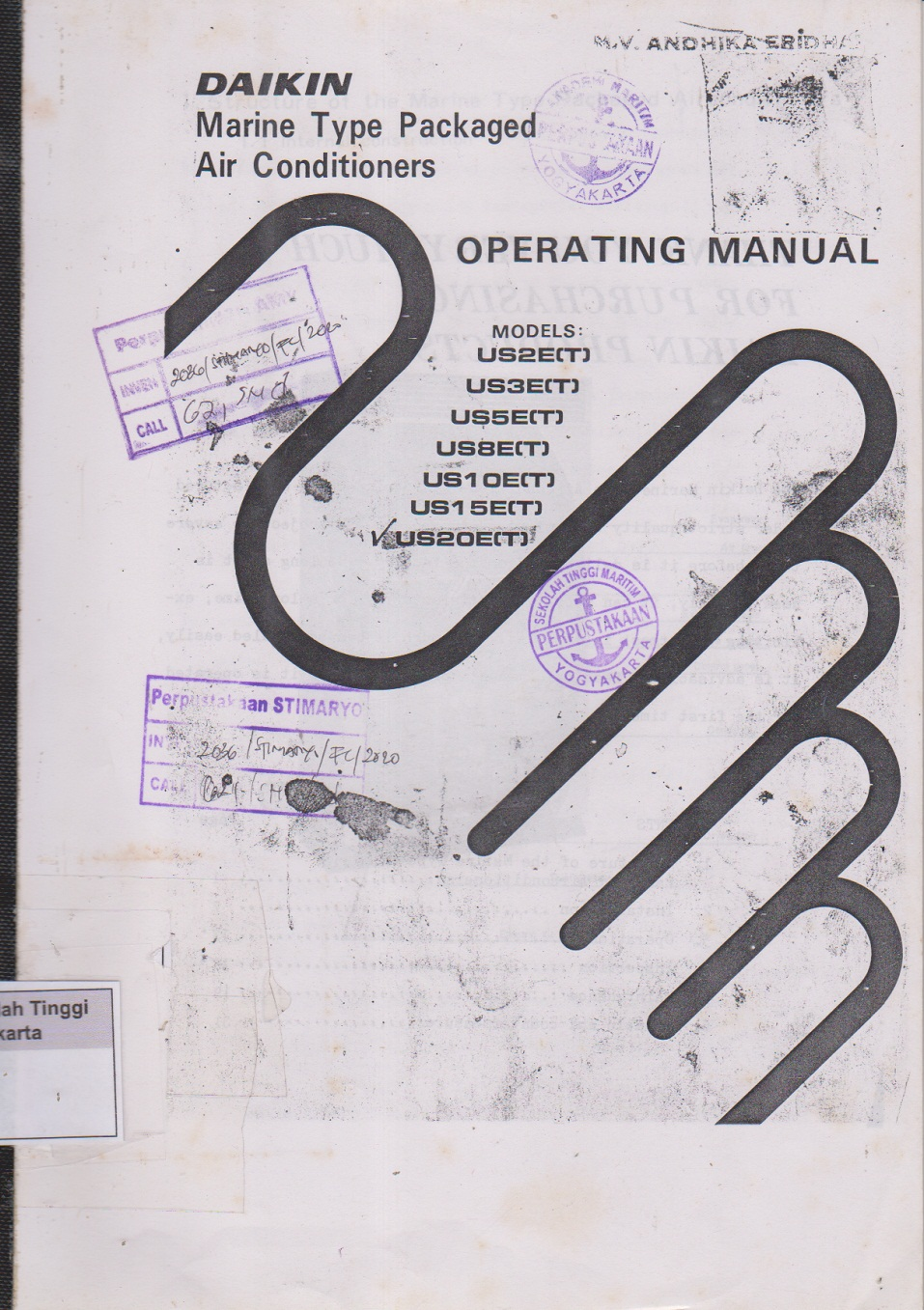 Dikin Marine Type Packaged Air Conditioners Operating Manual