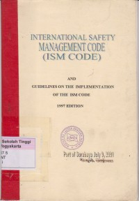Image of International Safety Management code ( ISM Code )