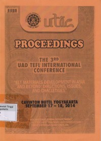 Image of Proceedings : The 3 rd UAD Tefl International Conference