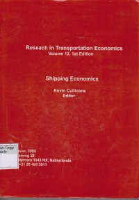 Image of Reseach in Transportation economics Volume 12, 1ST Edition  : Shipping Economics